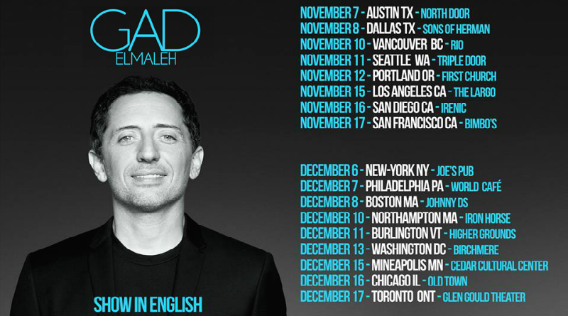 Gad Elmaleh all in english à Dallas et Austin, Texas